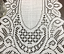 Crochet Lace Table Runner - White