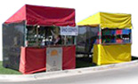 10x10 Festival Booths with Mesh