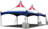 20x20 Red, White, Blue Frame/Cable Tents