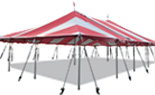40x Red and White Pole Tent
