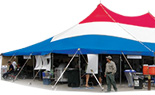 40x Red, White, & Blue Tension Tents