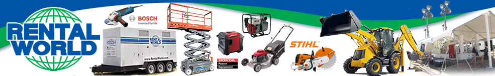 Rental World Equipment Banner
