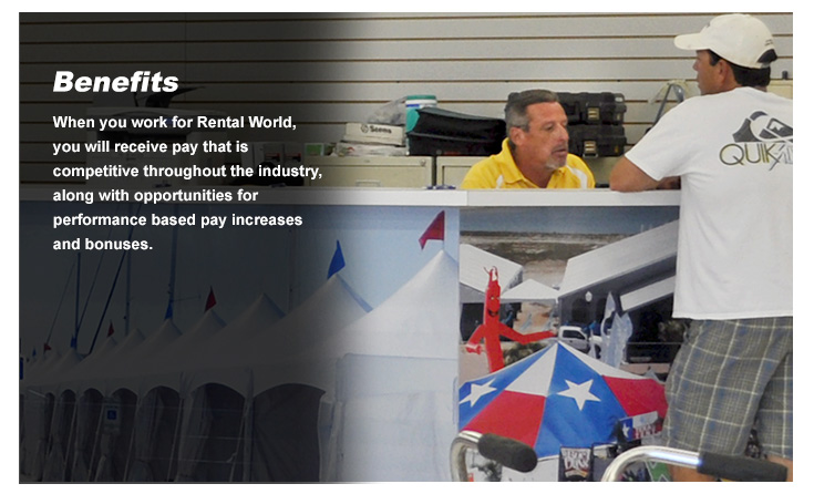 Rental World Employment Benefits