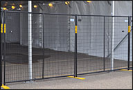 Black Powder Coated Fence Panels - 7.5' w x 6' H