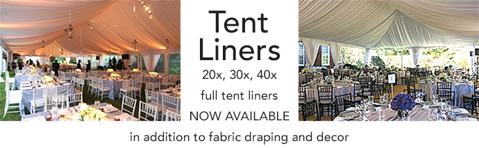 Tent Liners Now Available 20x, 30x, 40x