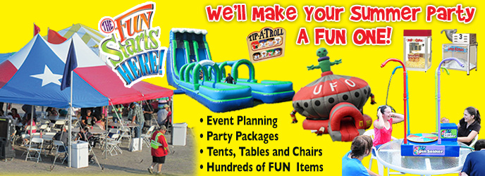 We'll make your summer party a fun one!